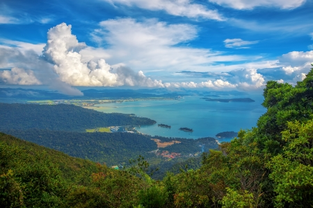 Le paysage de Langkawi vu du point de vue de la télécabine