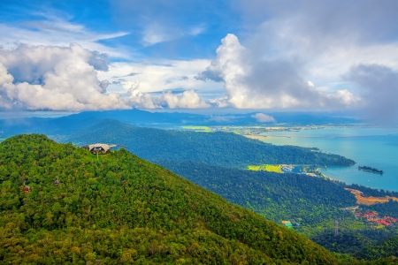 langkawi island: The landscape of Langkawi seen from Cable Car viewpoint