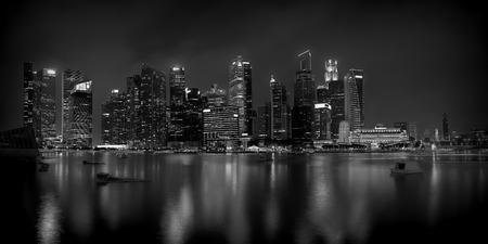 singapore culture: Singapore Skyline Stock Photo