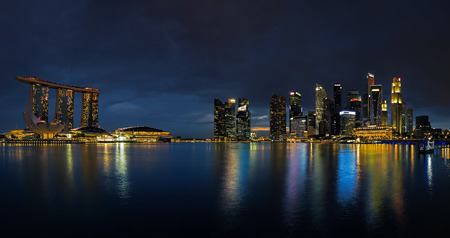 singapore culture: Singapore Skyline at sunset