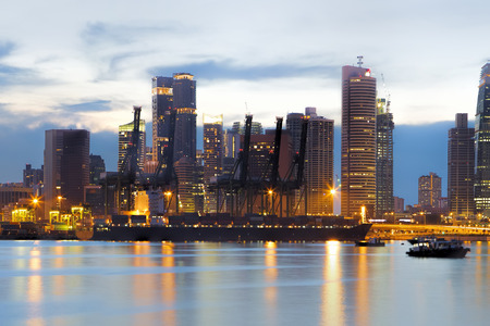 Port of Singapore 版權商用圖片