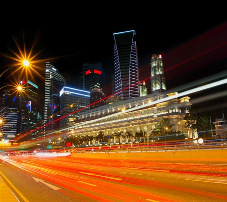 singapore: Light trails