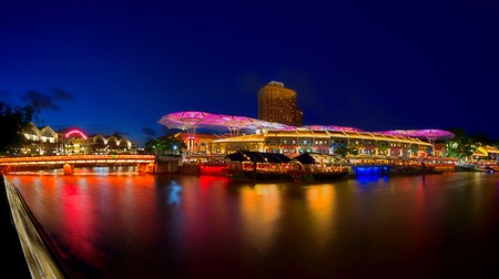 Colours at Clarke Quay, Singapore, in the evening