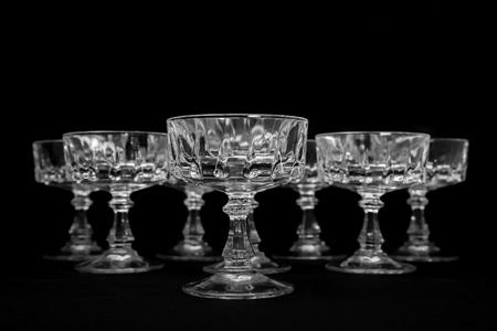 sherbet: Crystal sherbet glasses Stock Photo
