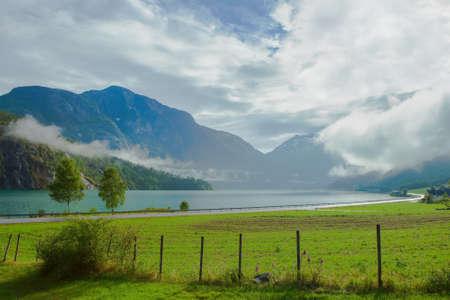 Summer landscape in Stryn Norway