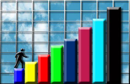 Climbing profits Stock Photo - 230339