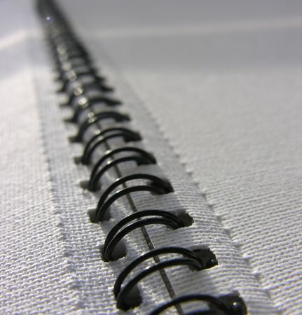 Spiral bound book photo