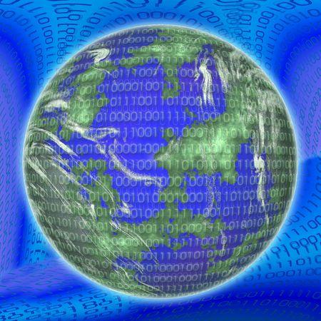 bulge: Binary globe Stock Photo