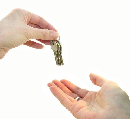 handing: Handing over the keys