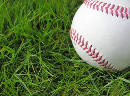 bounds: Baseball in grass
