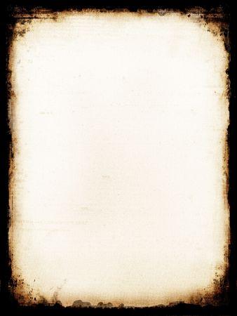 papel quemado: Antiguo papel quemado