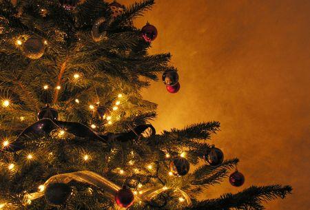 wintery: Christmas tree