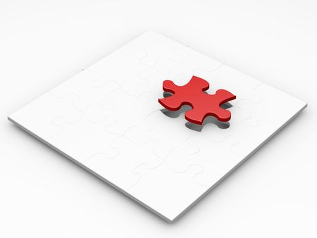 The final piece of the puzzle Stock Photo - 378914