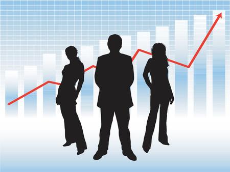 profit and loss: Business di successo team - Vector  Vettoriali