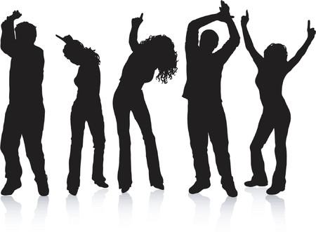 Disco dancers - vector Vector