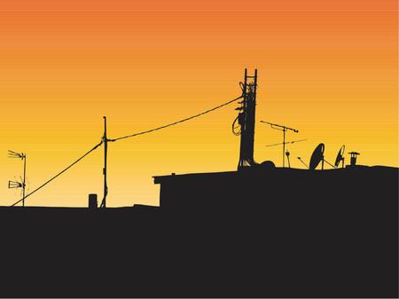 rooftop: Rooftop view - vector
