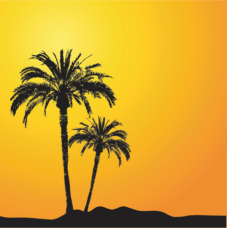 Palm trees - vector Stock Vector - 415099