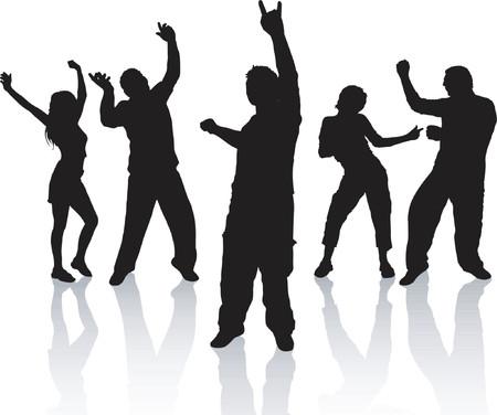People dancing - vector Vector