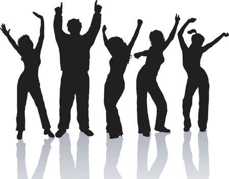 everyone: Everyone dance - vector Illustration