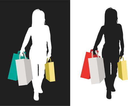 retail therapy: Power shopper - vector