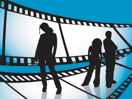 Film strip youth - vector Stock Vector - 417877