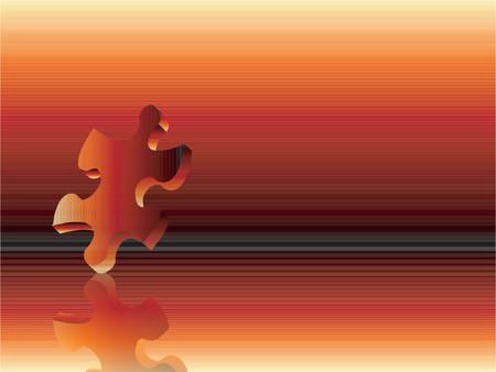 Falling puzzle piece - vector Stock Vector - 417270