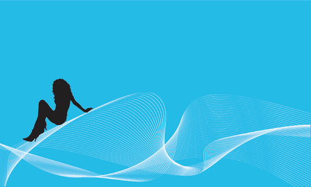 waves vector: Riding the waves - vector Illustration