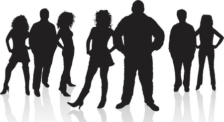 Young people - vector Stock Vector - 417211