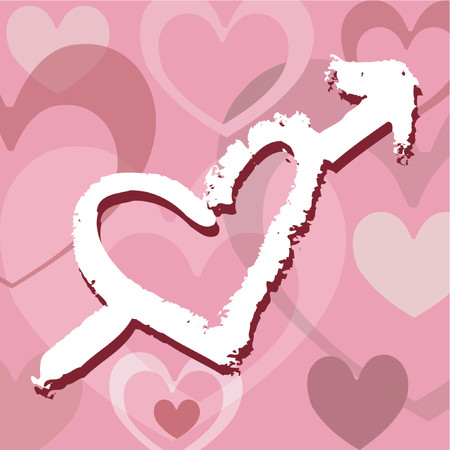 hot couple: Grunge love - vector