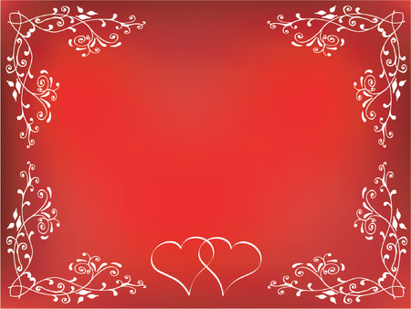 Decorative Valentines background - vector Stock Vector - 417187