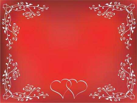 hot couple: Decorative Valentines background - vector