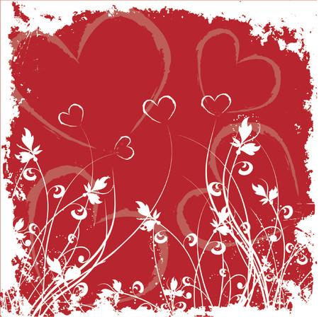 Valentines grunge - vector Vector