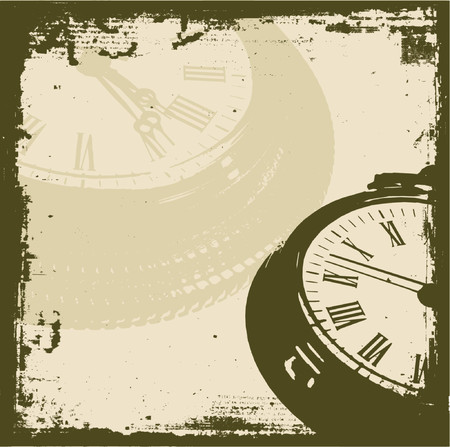 Grunge time - vector Vector