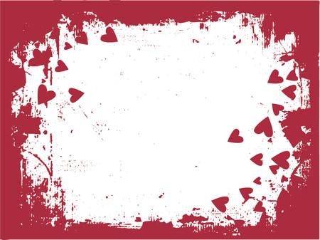 Grunge love - vector Vector
