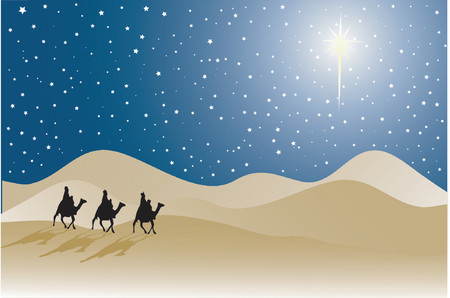 wise men: Three wise men - vector Illustration