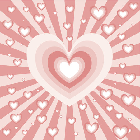 Heart background - vector Vector
