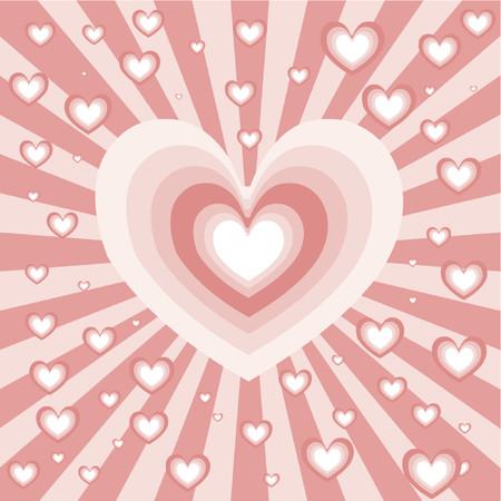 Heart background - vector Stock Vector - 419803