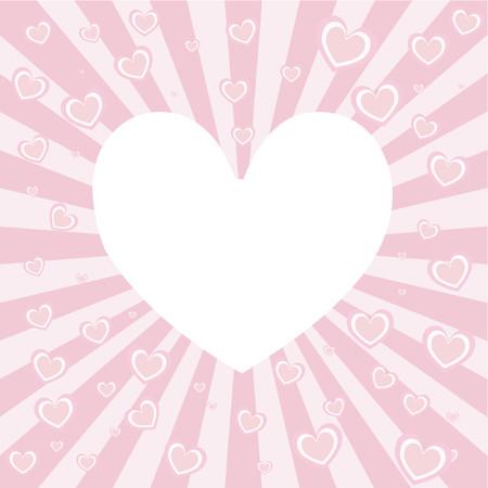 Heart background - vector Vector