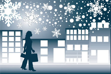 Christmas shopping - vector Stock Vector - 419800