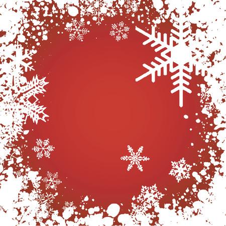 frieren: Grunge Schneeflocke Hintergrund - Vektor Illustration