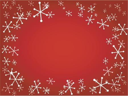 frieren: Retro Schneeflocken - Hintergrund