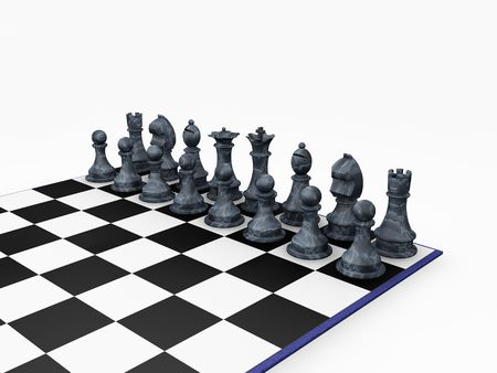 Chess pieces - 3D render photo