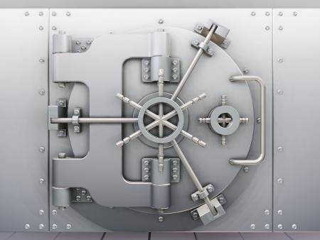 bank vault: Closed bank vault - 3D render