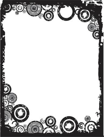 Grunge circles - vector Stock Vector - 425315