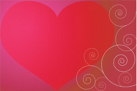 hot couple: Heart background - vector