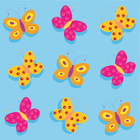 Butterflies - vector Stock Vector - 425274