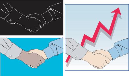 handshakes: Handshakes - vector