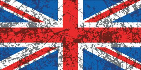 grunge union jack: Grunge Union Jack flag - vector