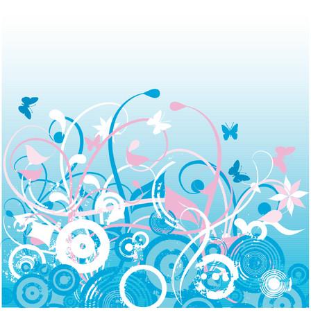 Floral chaos - vector Stock Vector - 427753
