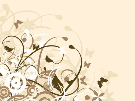 Chaotic nature - vector Stock Vector - 427744
